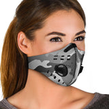 White Camo Premium Face Mask