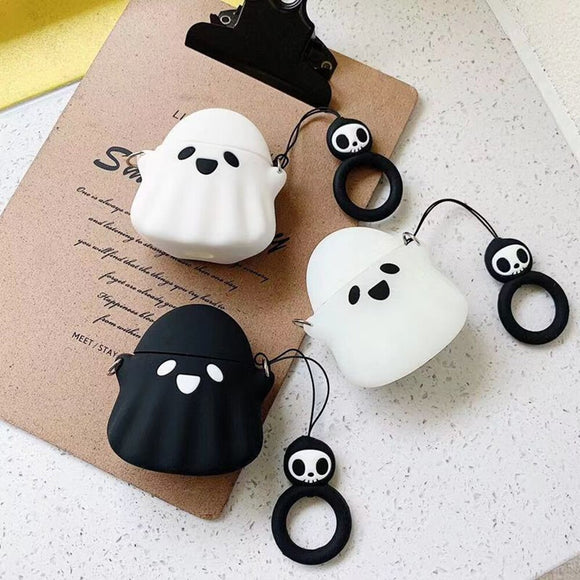 Cute Ghost Bluetooth Wireless Earphone Case
