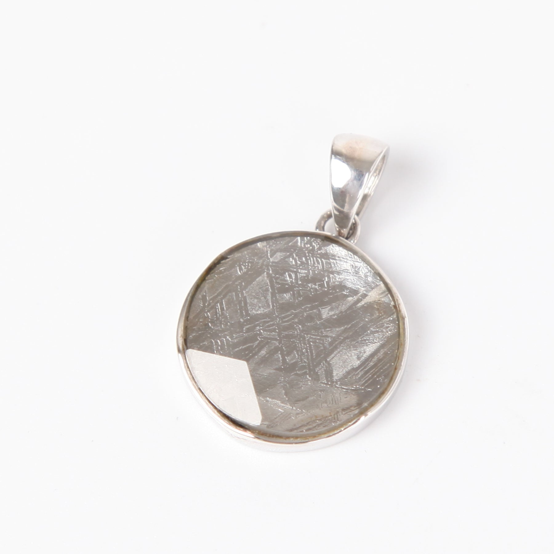 Iron Nickle Meteorite Pendant with Sterling Silver