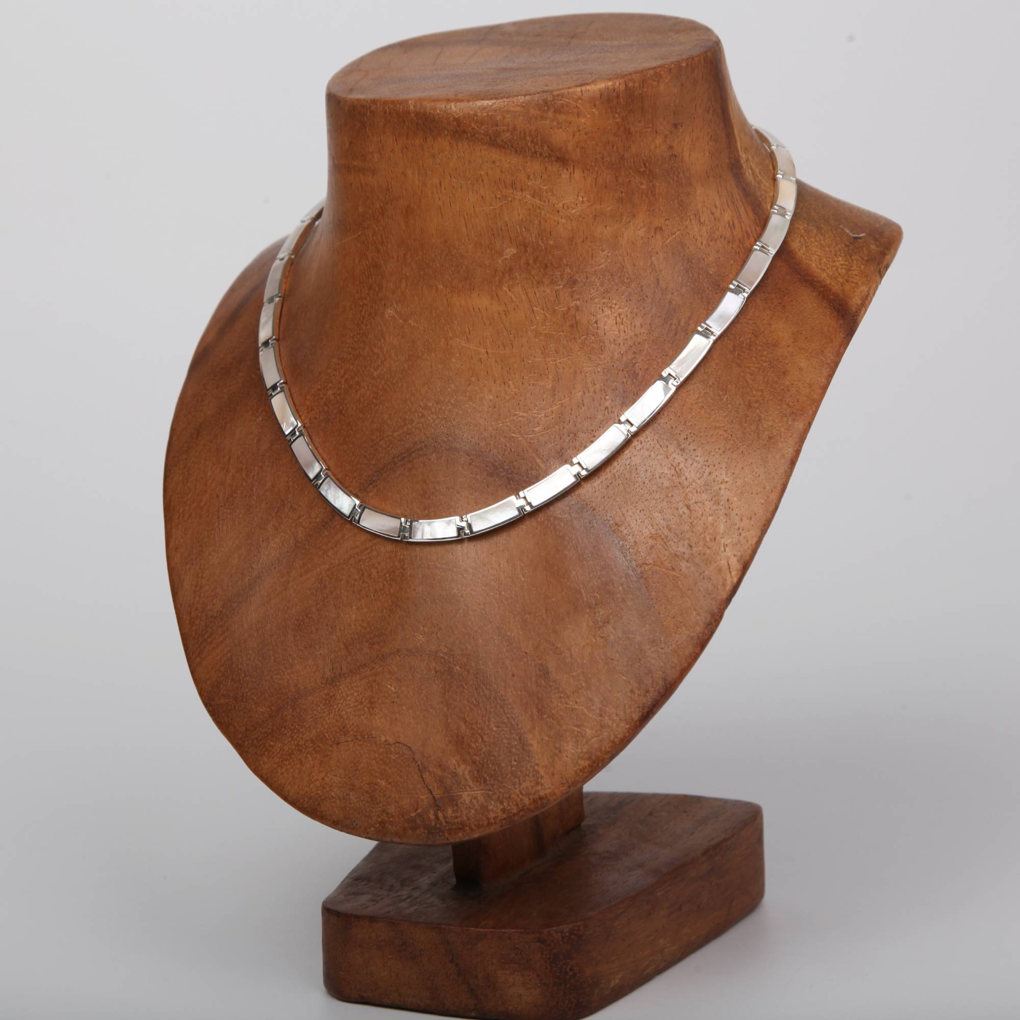 Mother of Pearl Necklace with Sterling Silver