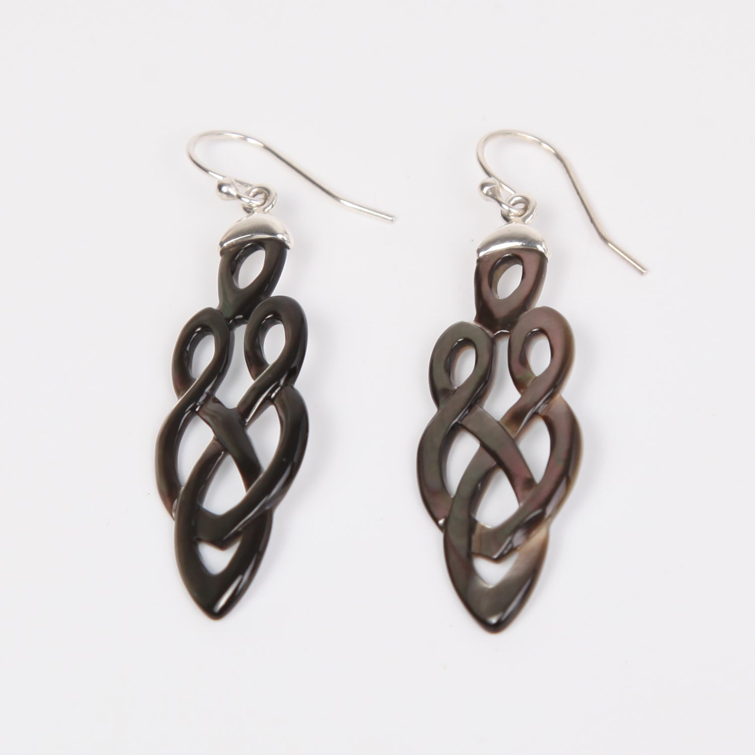 Swirl Mother of Pearl Earrings with Sterling Silver