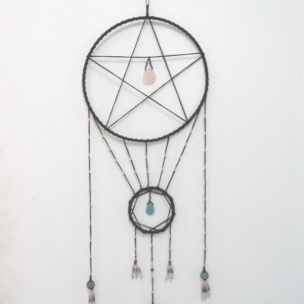 Light Catcher with Amethyst, Aquamarine, Amazonite, Rose Quartz and Fluorite