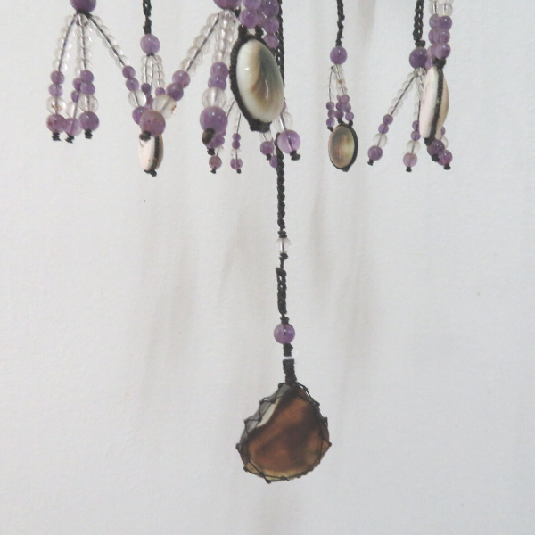 Light Catcher with Crystal, Amethyst, Chrysoprase, Shiva Eye Shell, Agate and Jade