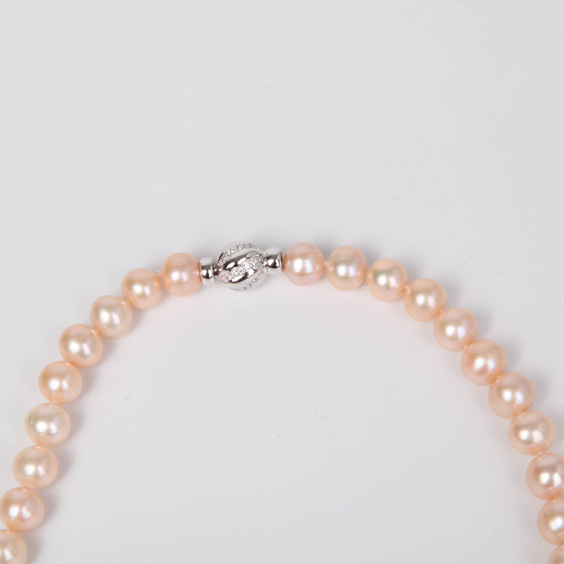 Coral Fresh Water Pearl Necklace with Sterling Silver
