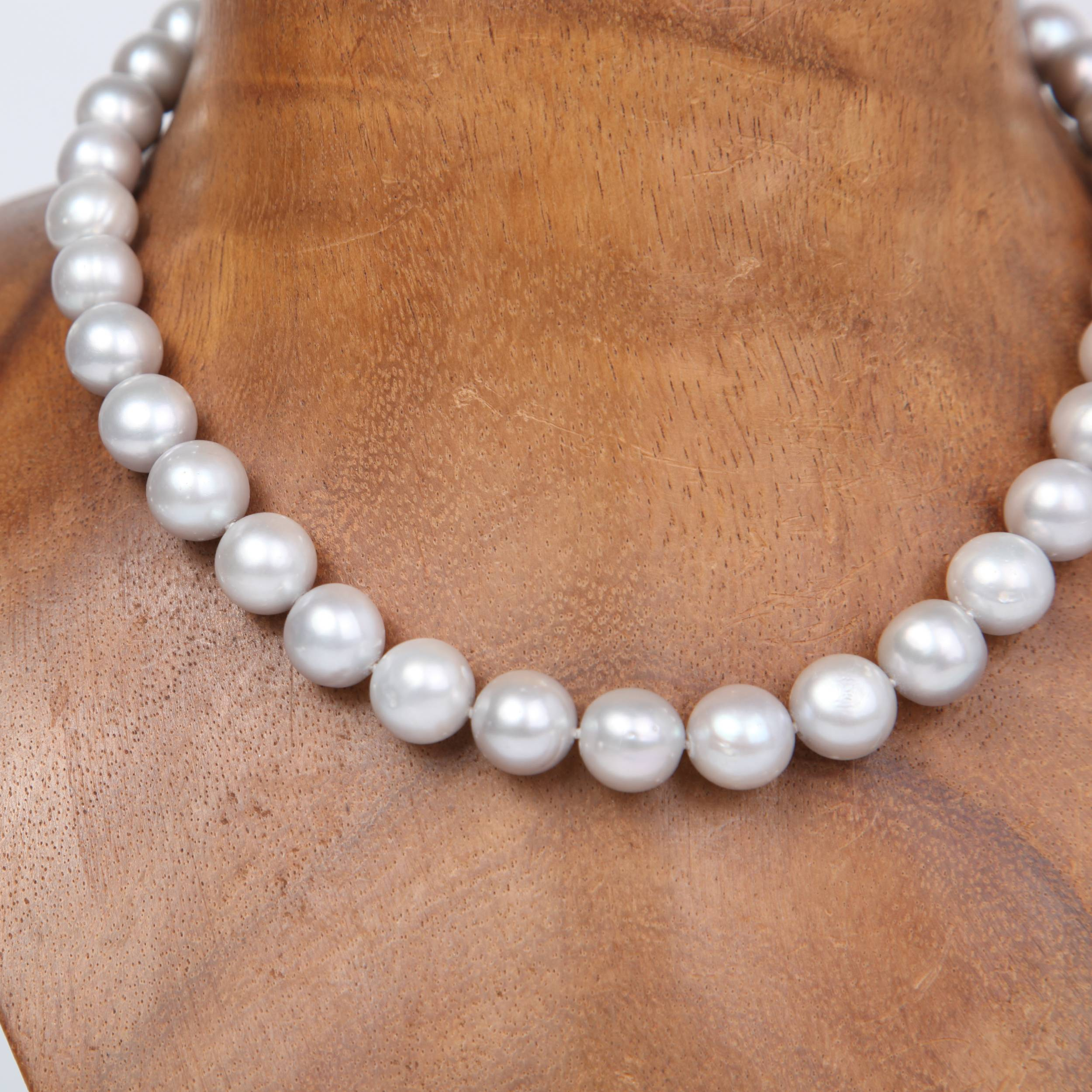 Silver Fresh Water Pearl Necklace with Sterling Silver
