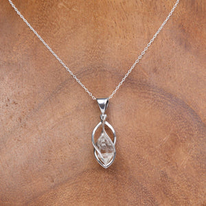 Sterling Silver Pendant with Herkimer Crystal