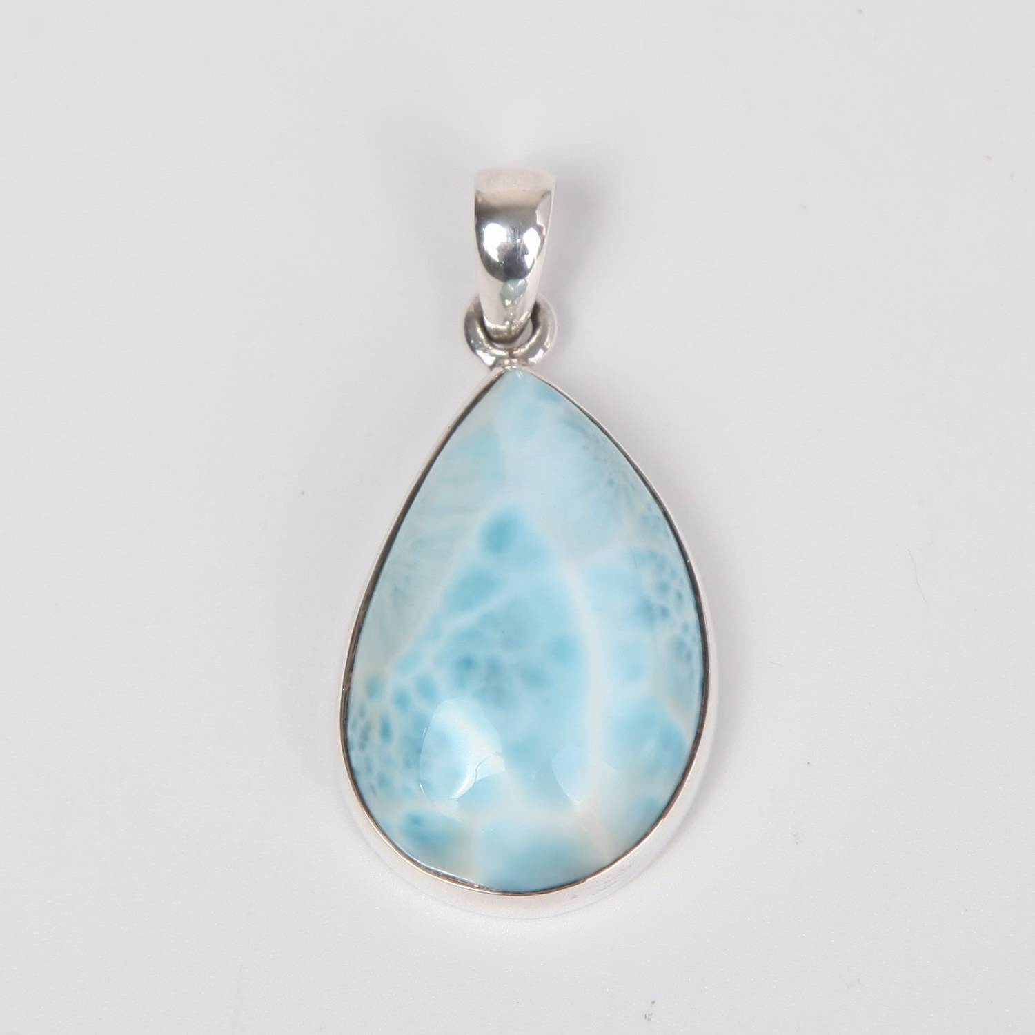 Sterling Silver Pendant with Larimar Stone