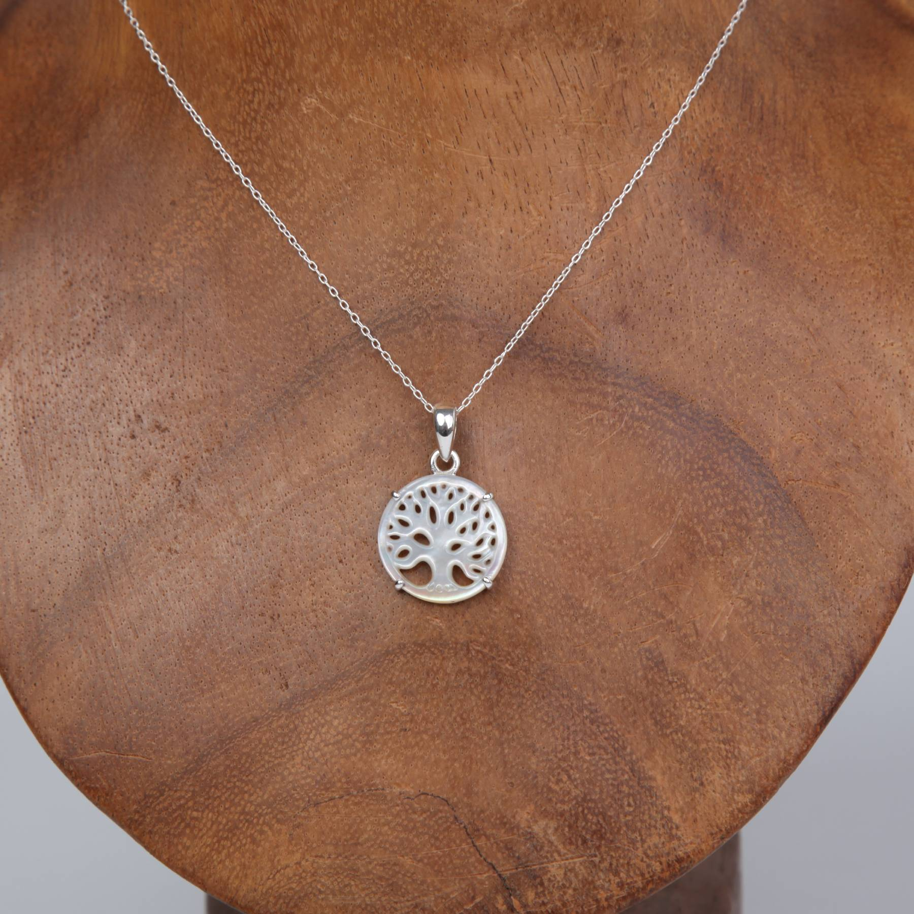 Sterling Silver Pendant with Mother of Pearl (Tree of Life)