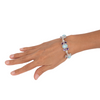 Larimar Stone Sterling Silver Bracelet with Amethyst
