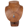 Azurite Sterling Silver Pendant with Larimar and Peridot