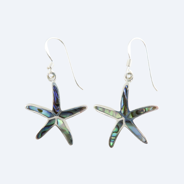 Paua Shell (Rainbow Abalone) Earrings with Sterling Silver
