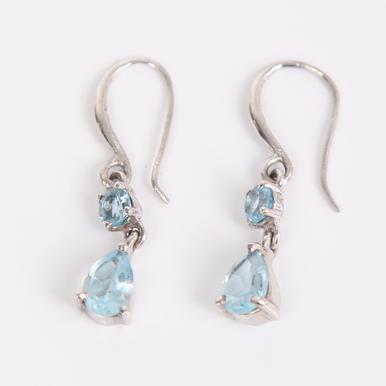 Blue Topaz Earring with Sterling  Silver