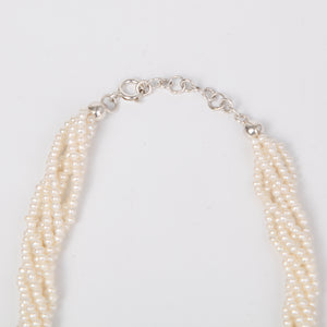 Twisted Fresh Water Pearl Necklace with Sterling Silver