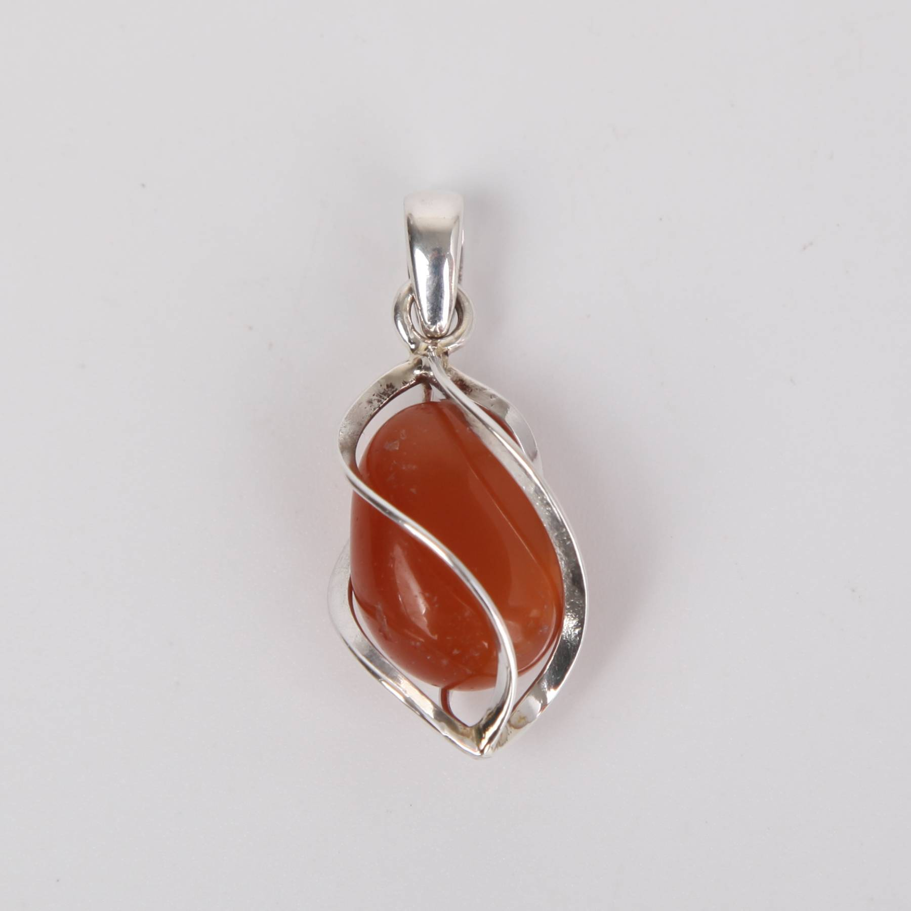 Sterling Silver Pendant with Agate