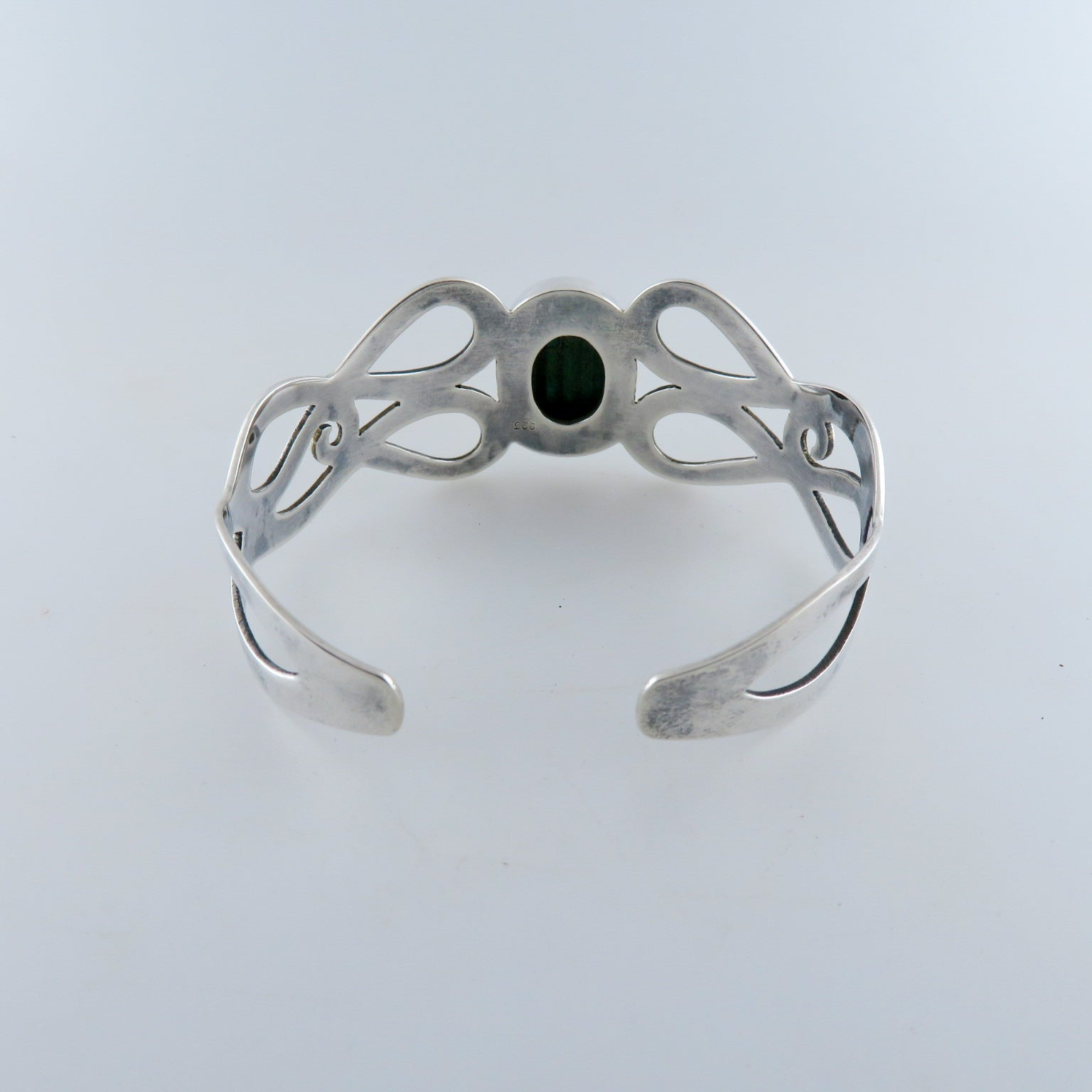 Malachite Bangle with Sterling Silver
