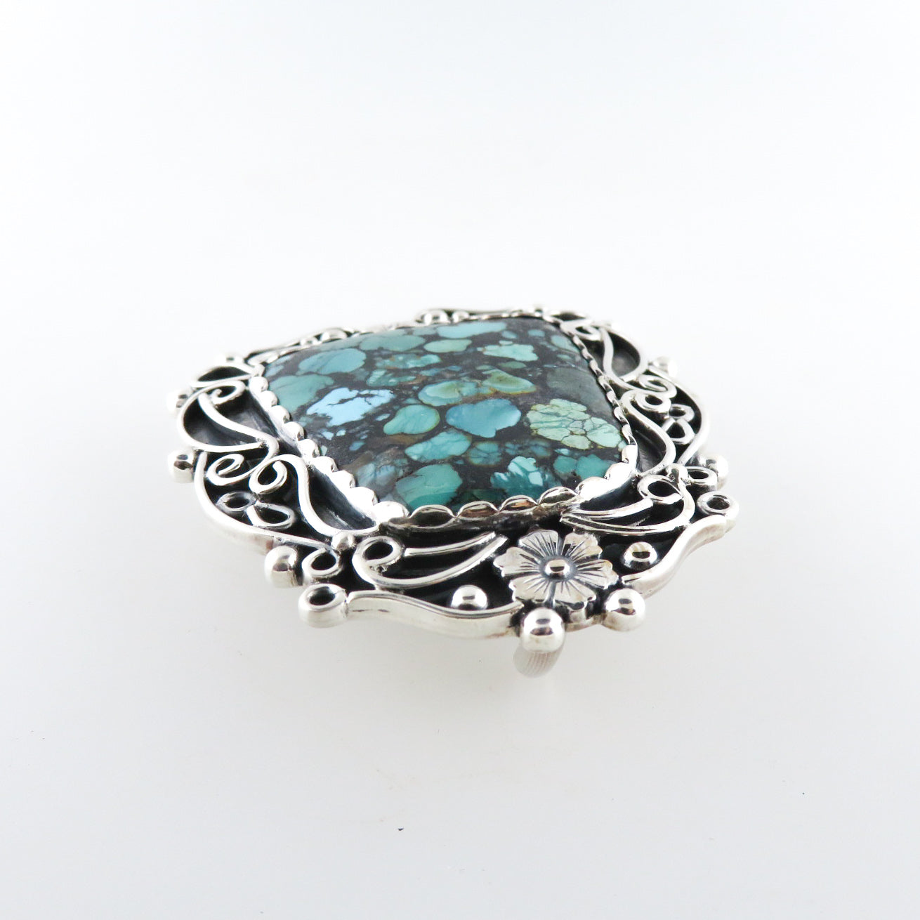 Sterling Silver Buckle with Turquoise