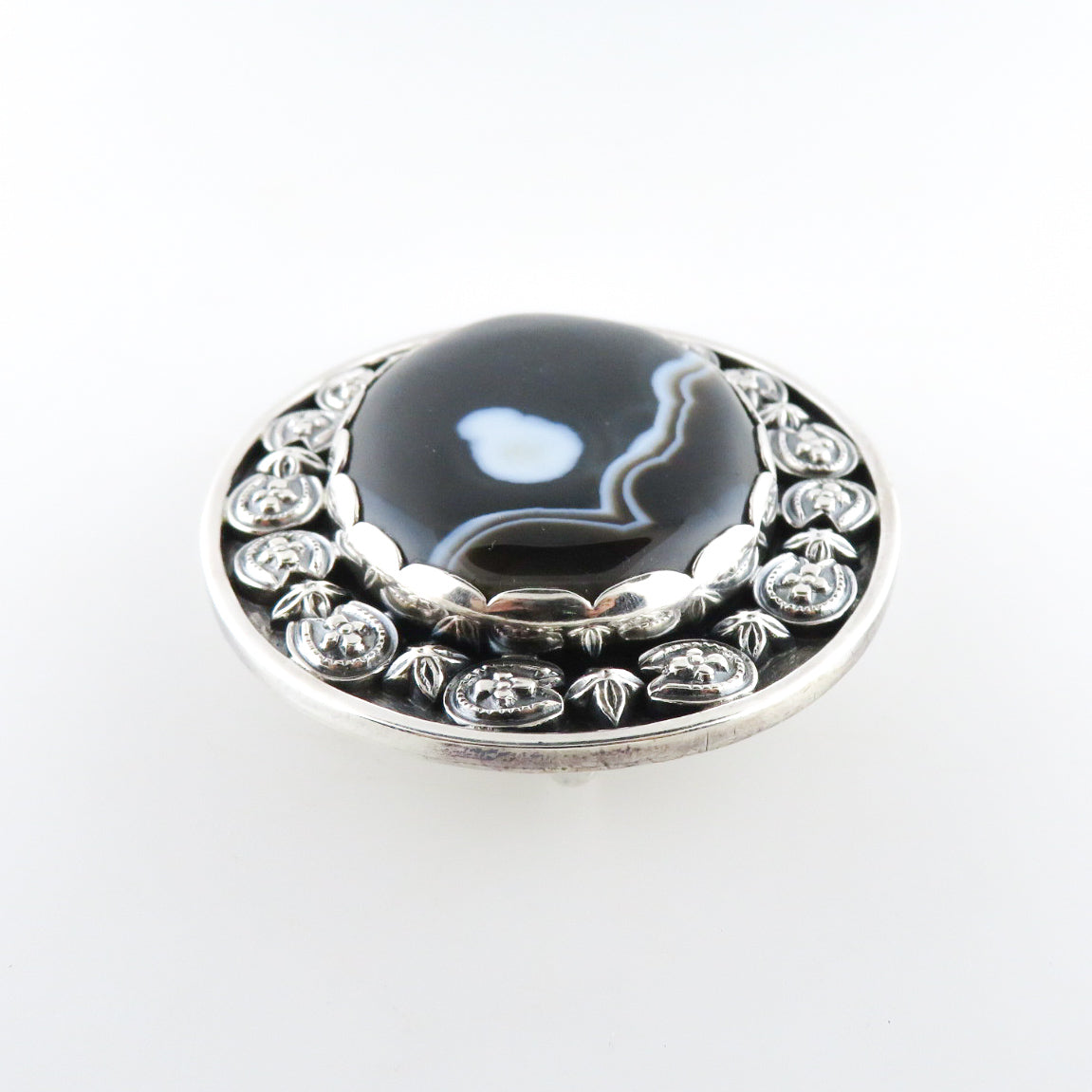 Sterling Silver Buckle with Agate