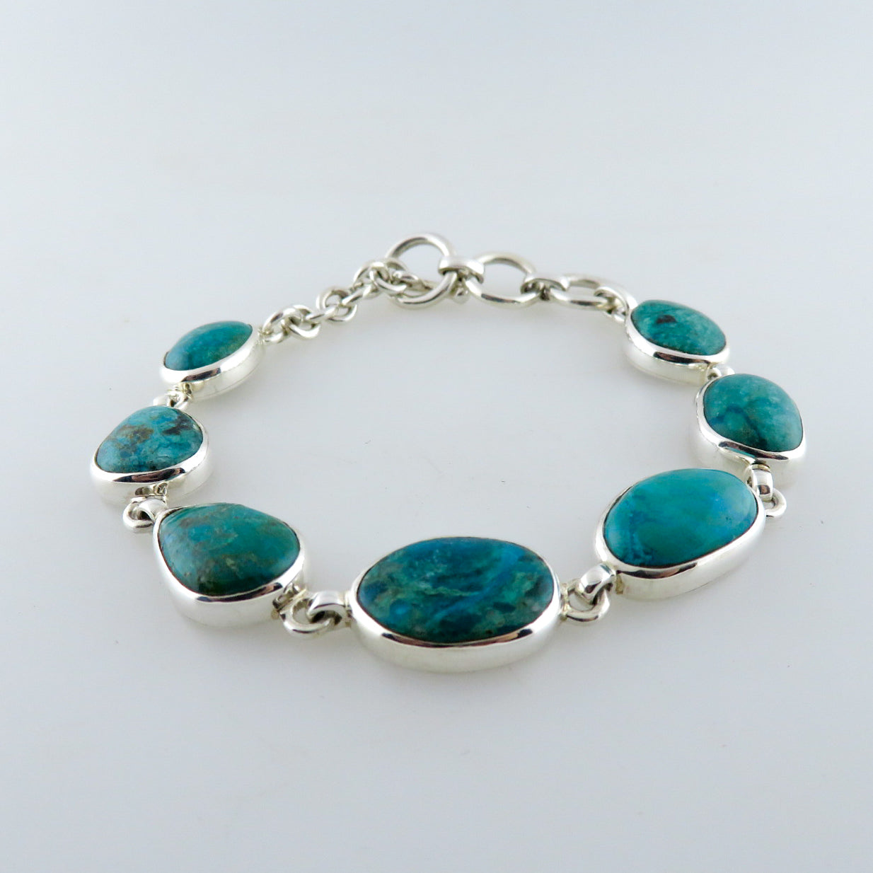 Chrysocolla Bracelet with Sterling Silver