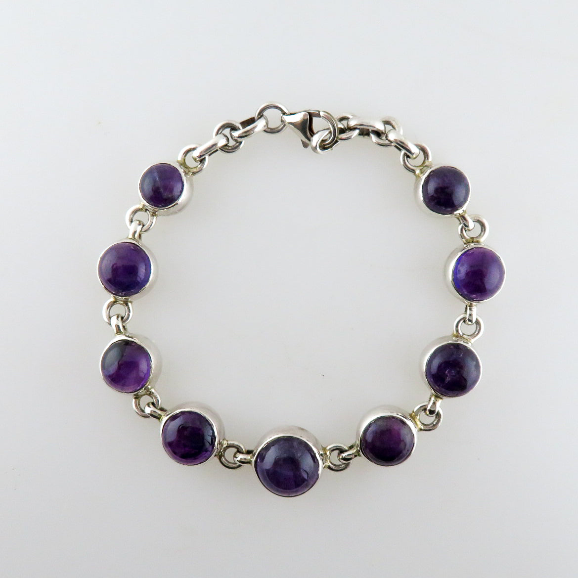 Amethyst Bracelet with Sterling Silver
