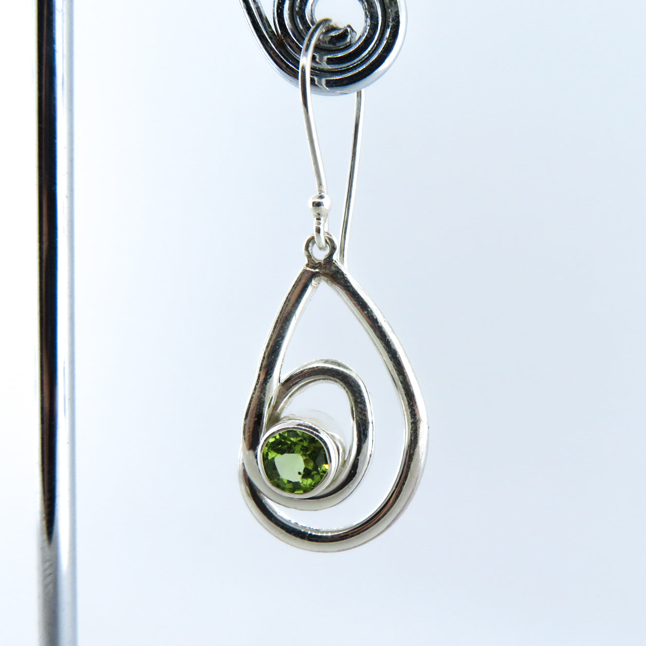 Sterling Silver Earrings with Peridot
