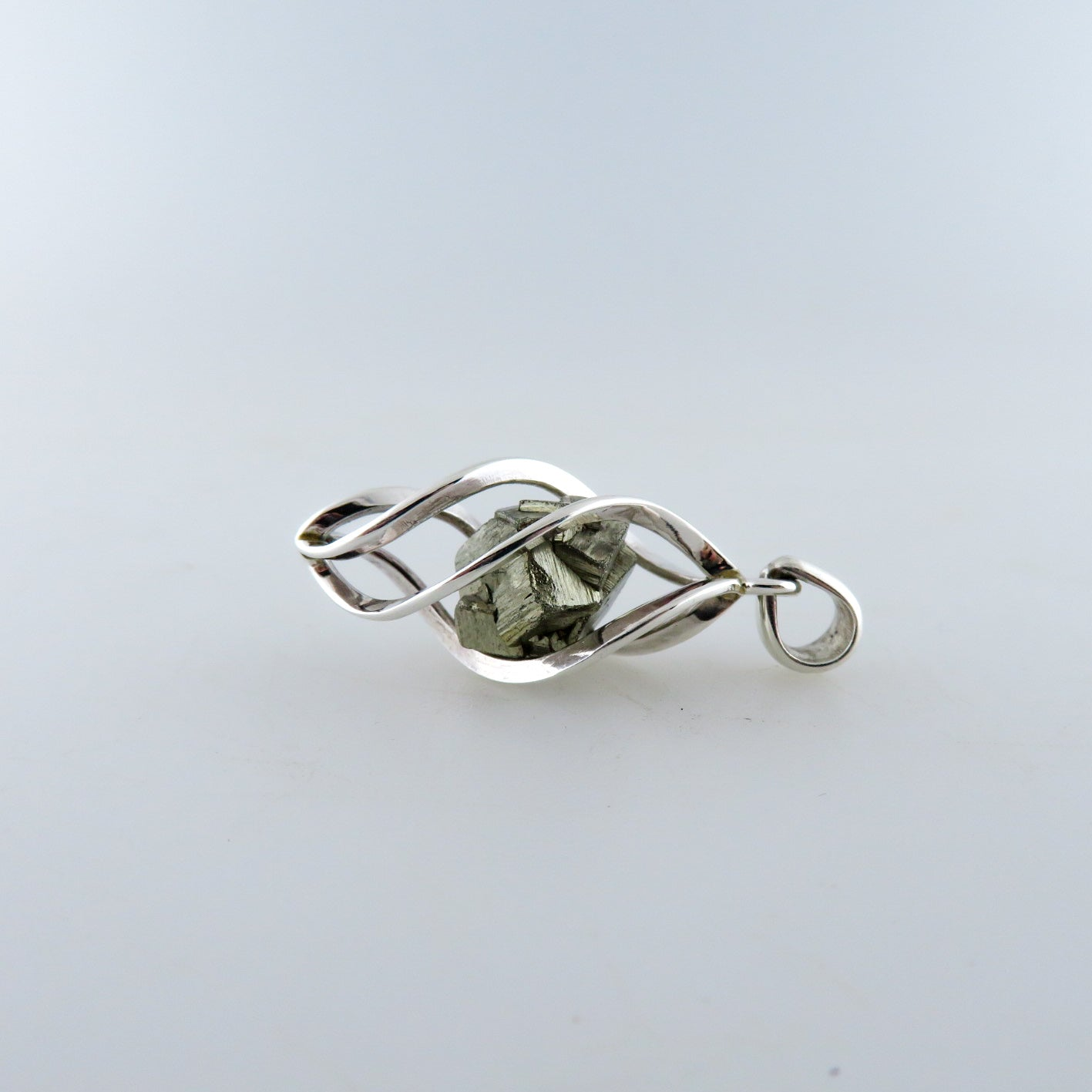 Pyrite Pendant with Sterling Silver