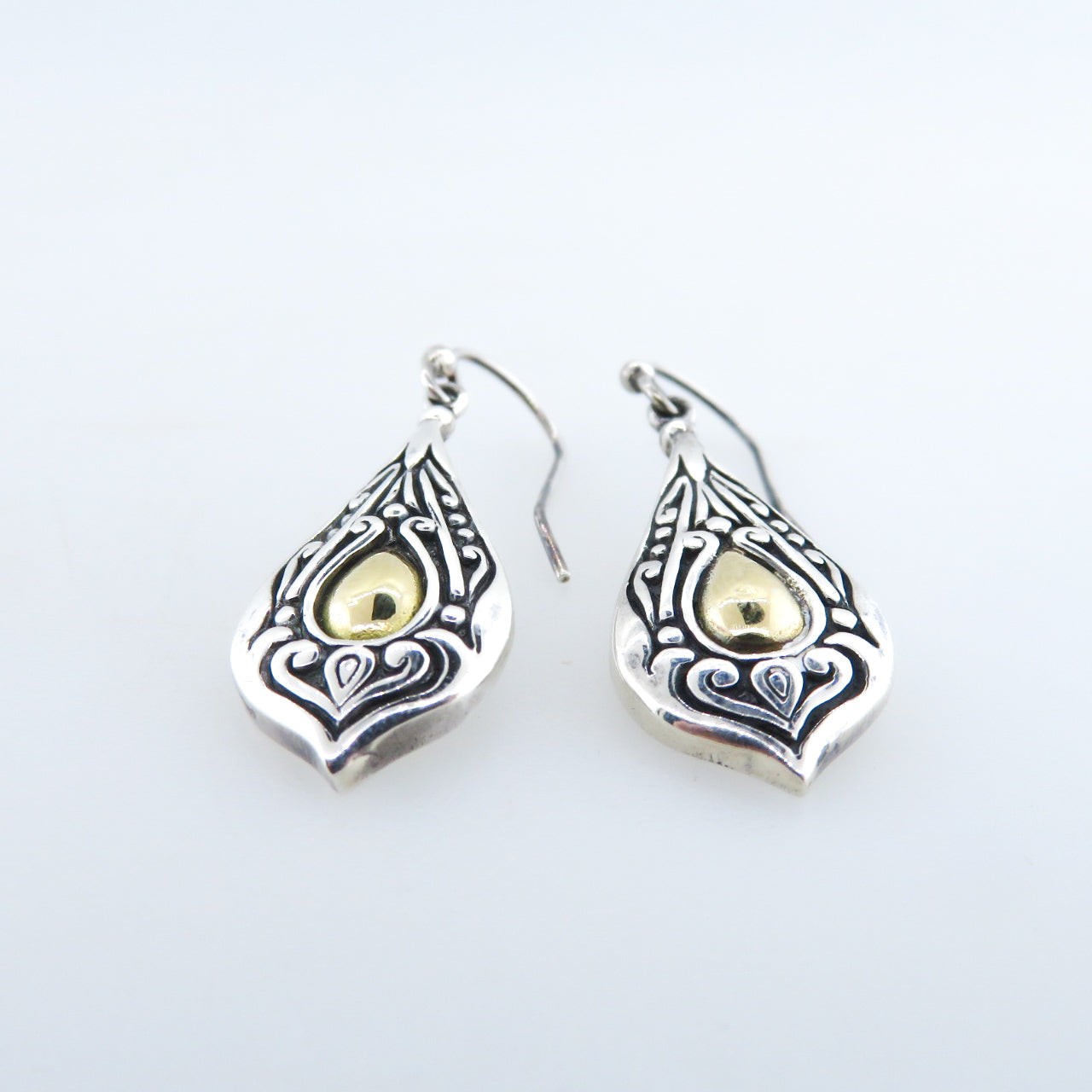 Sterling Silver Earrings with 18k Gold