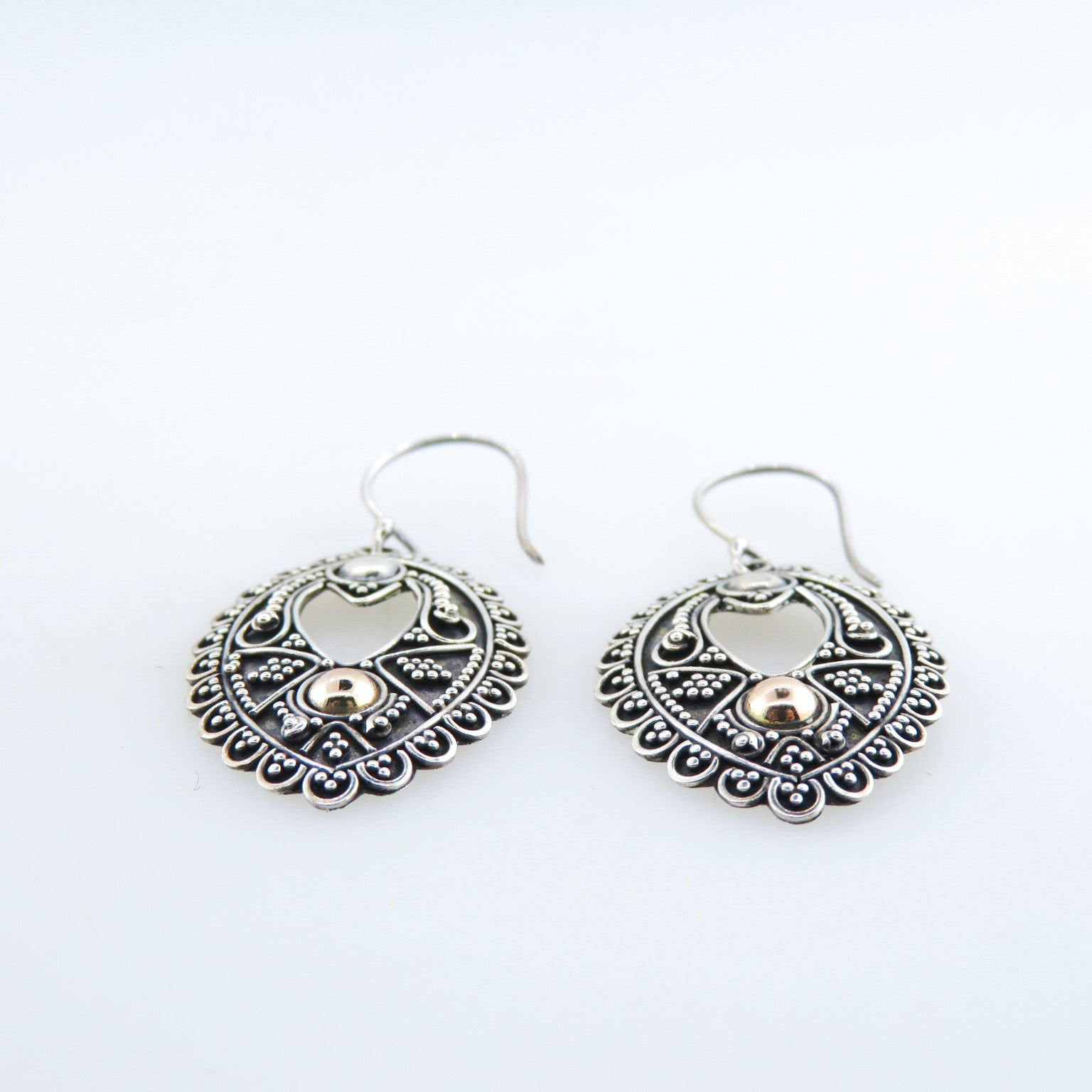 Sterling Silver Earrings with Rose Gold