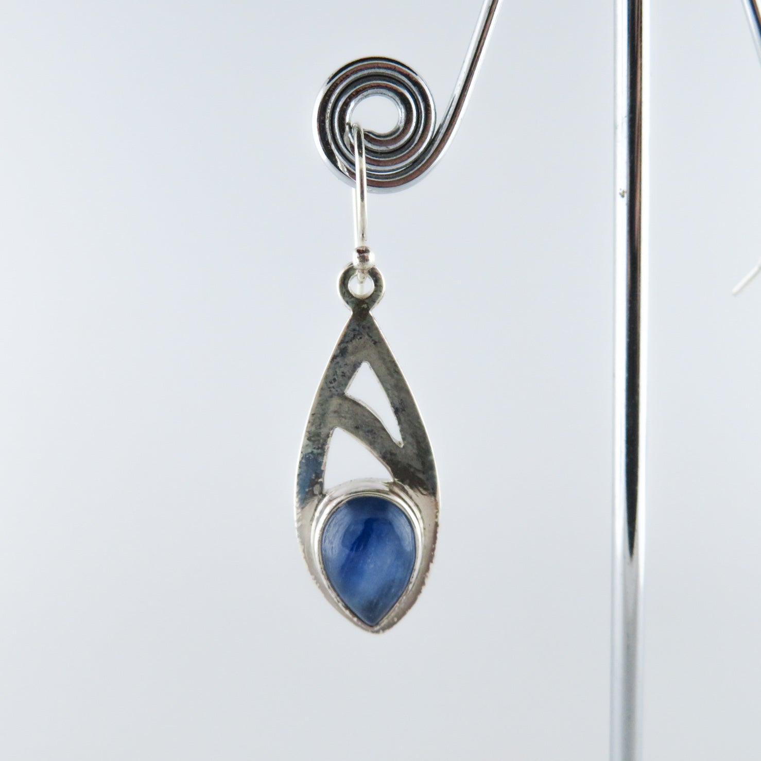 Kyanite Earrings with Sterling Silver