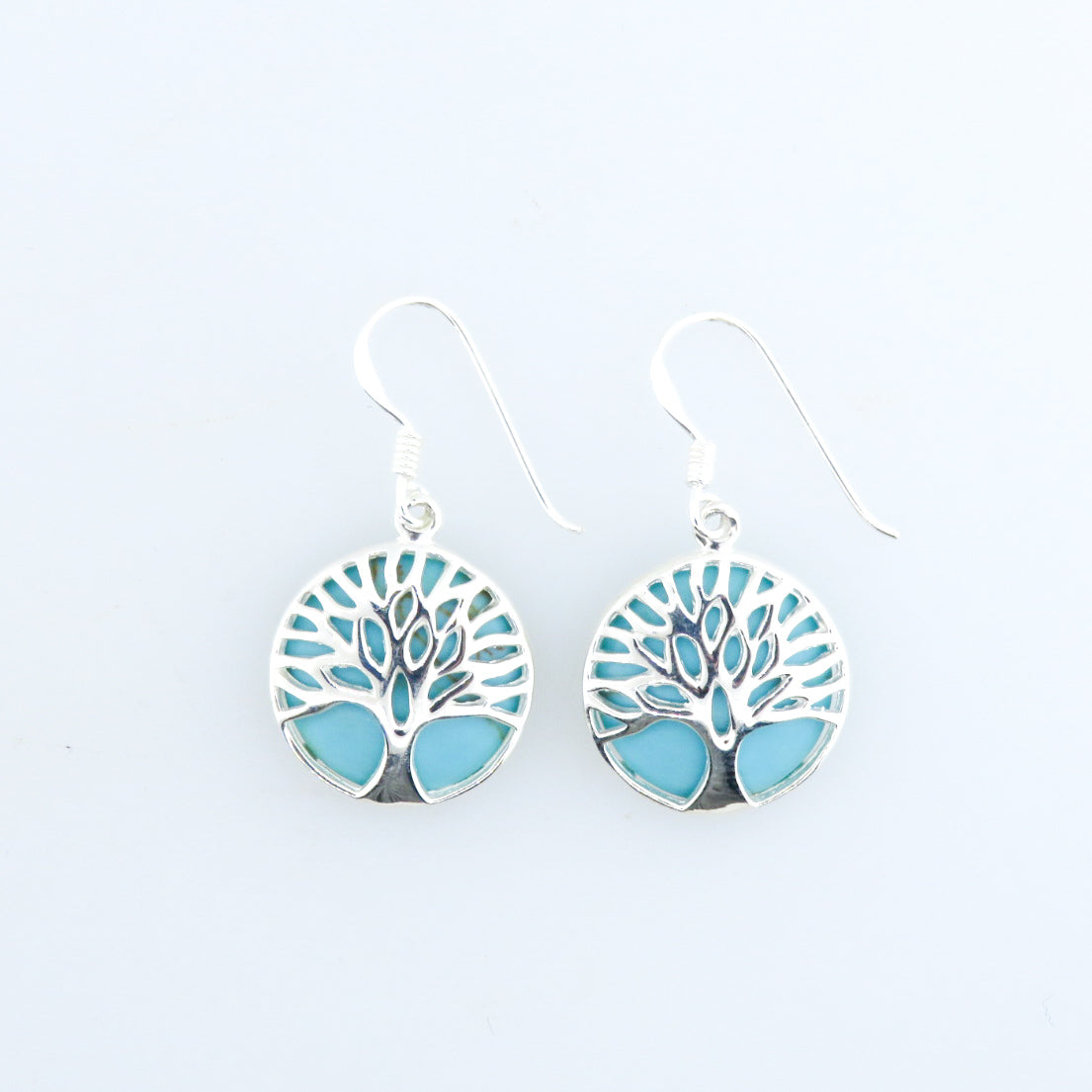 Turquoise Earrings with Sterling Silver