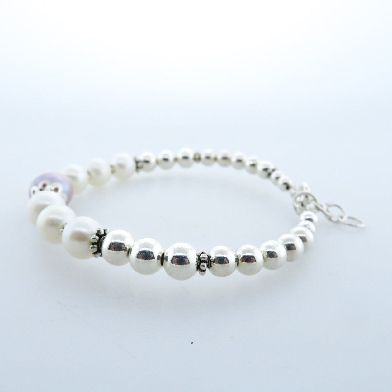Fresh Water Pearls Bracelet with Sterling Silver