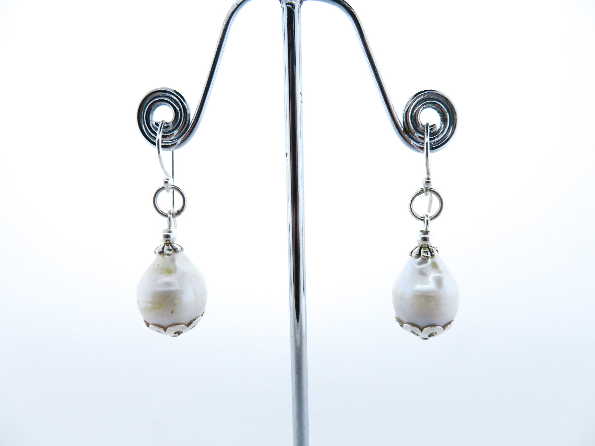 Sea Pearls Earrings with Sterling Silver