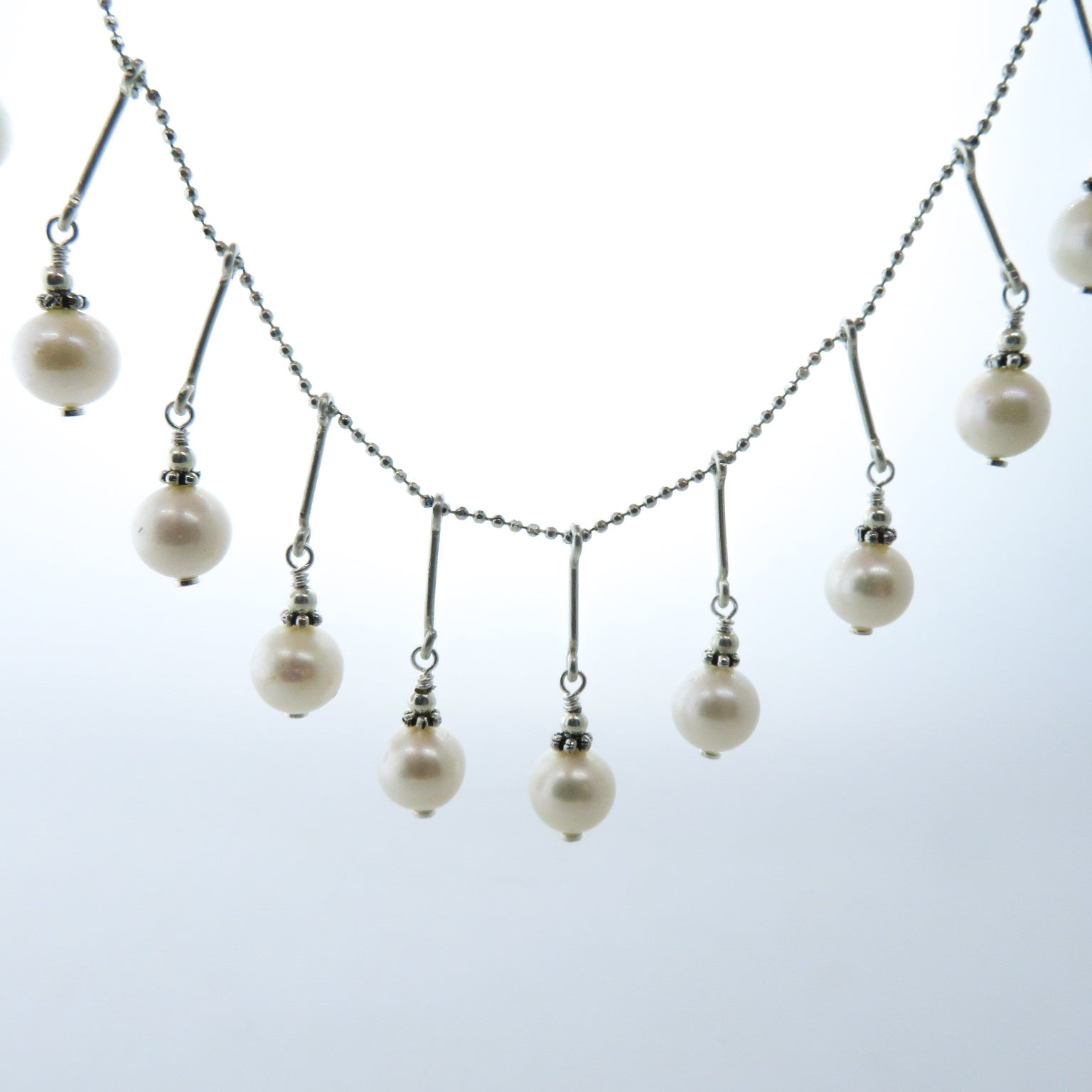 Fresh Water Pearl Necklace with Sterling Silver