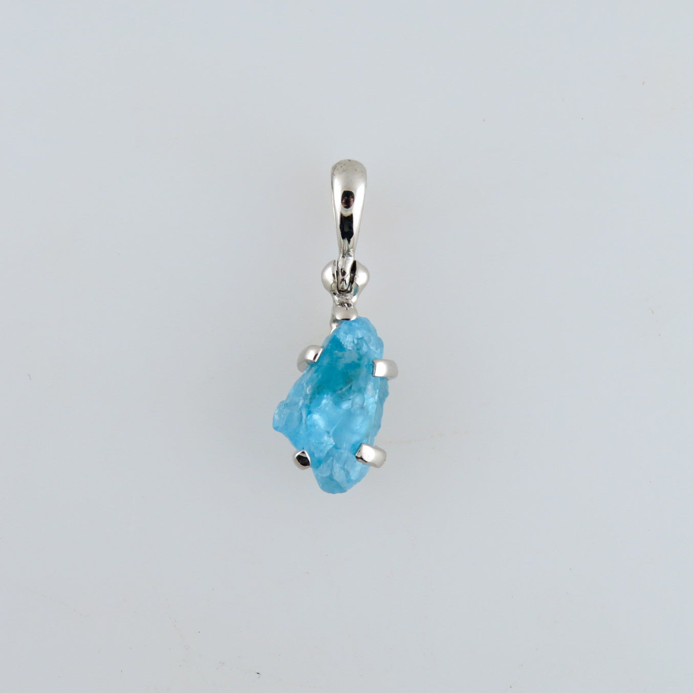 Blue Apatite Pendant with Sterling Silver