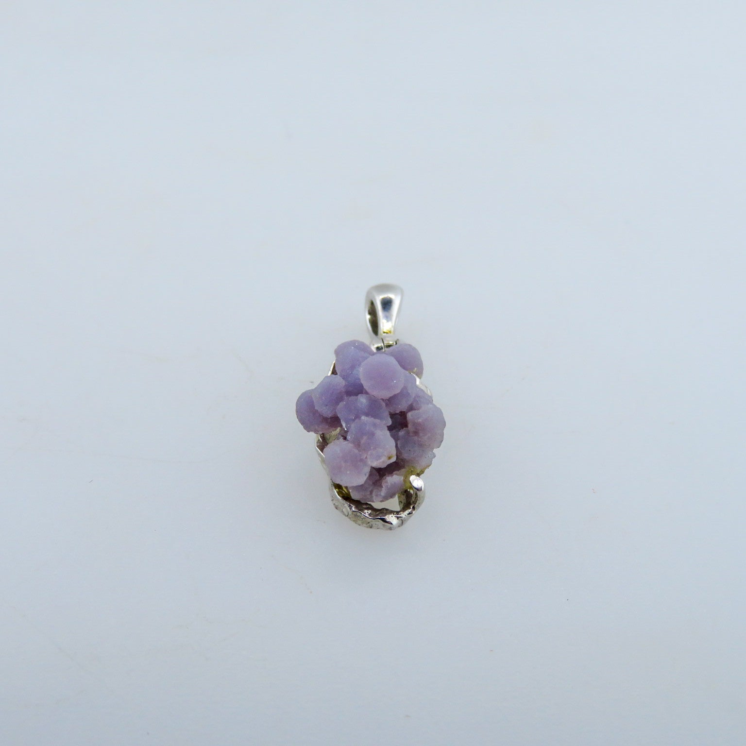 Grape Chalcedony Pendant with Sterling Silver
