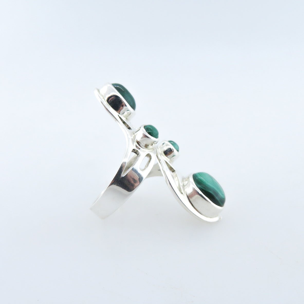 Sterling Silver Ring with Malachite