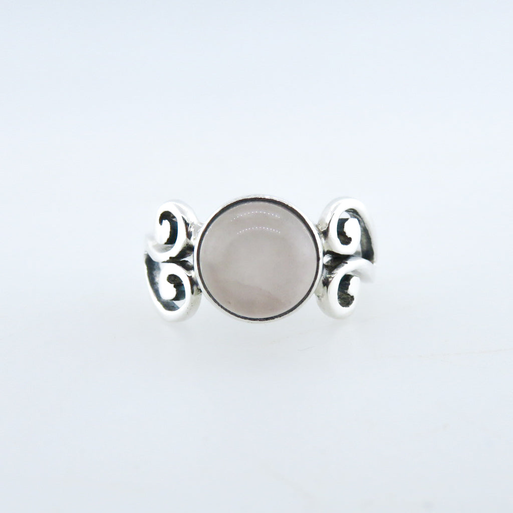 Sterling Silver Ring with Rose Quartz