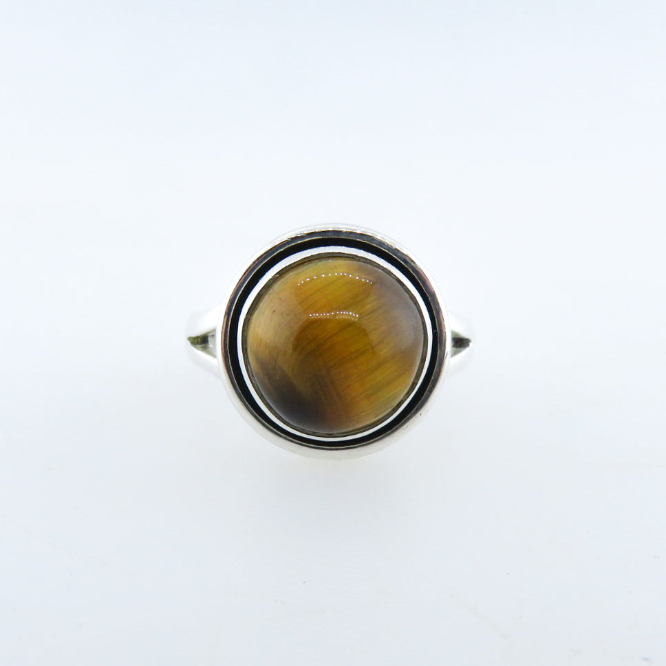 Sterling Silver Ring with Tiger's Eye