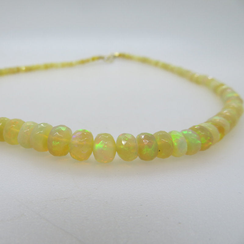 Ethiopian Opal Necklace with 18K Gold
