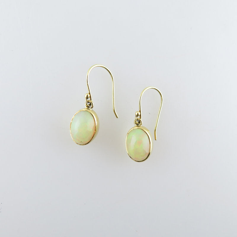 Ethiopian Opal Earrings with 18K Gold