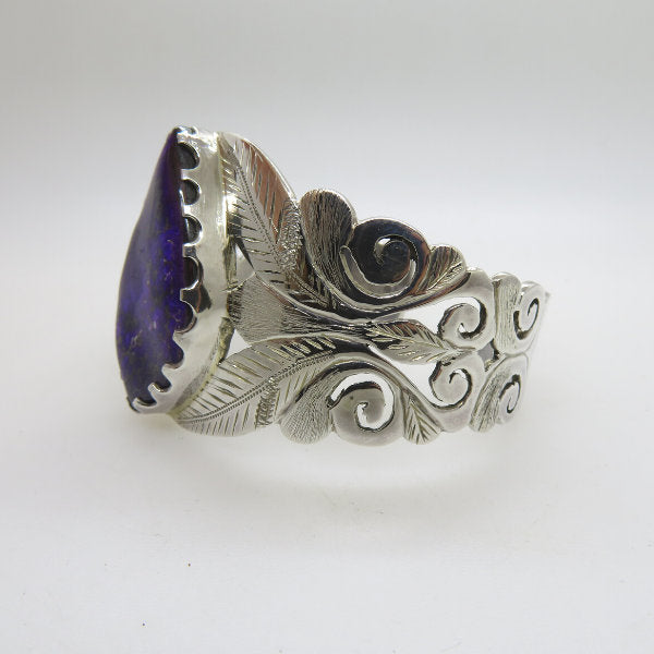 Sugilite Bangle with Sterling Silver