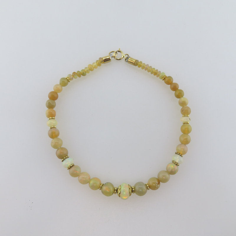 Ethiopian Opal Bracelet with 18K Gold