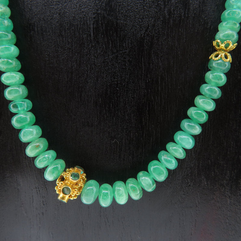 Emerald Necklace with 18K Gold