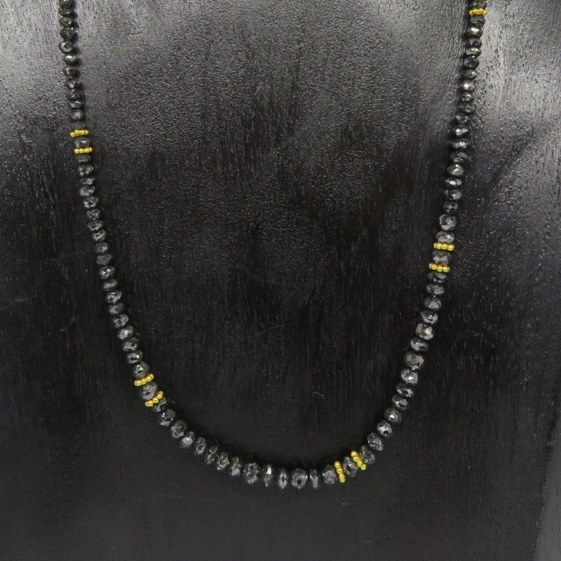 Black Diamond Necklace with 18K Gold
