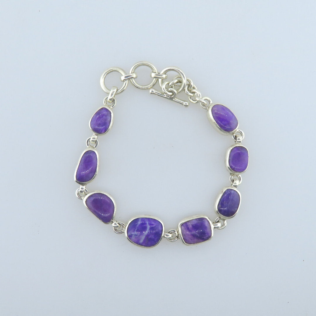 Sugilite Bracelet with Sterling Silver