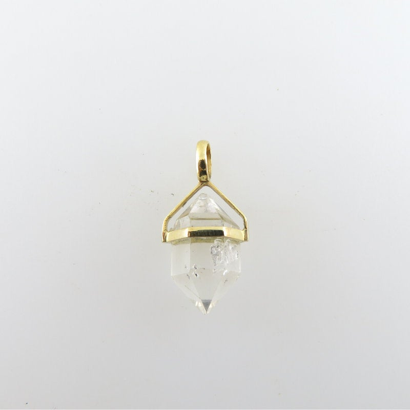 Herkimar Crystal Pendant with 18K Gold