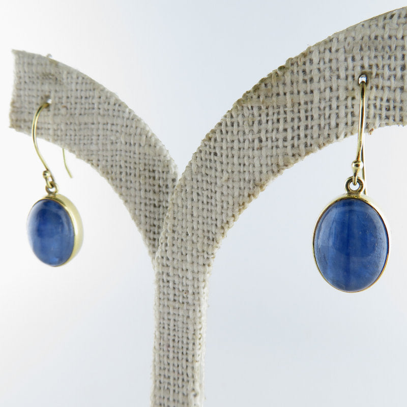 Kyanite Earrings with 18K Gold