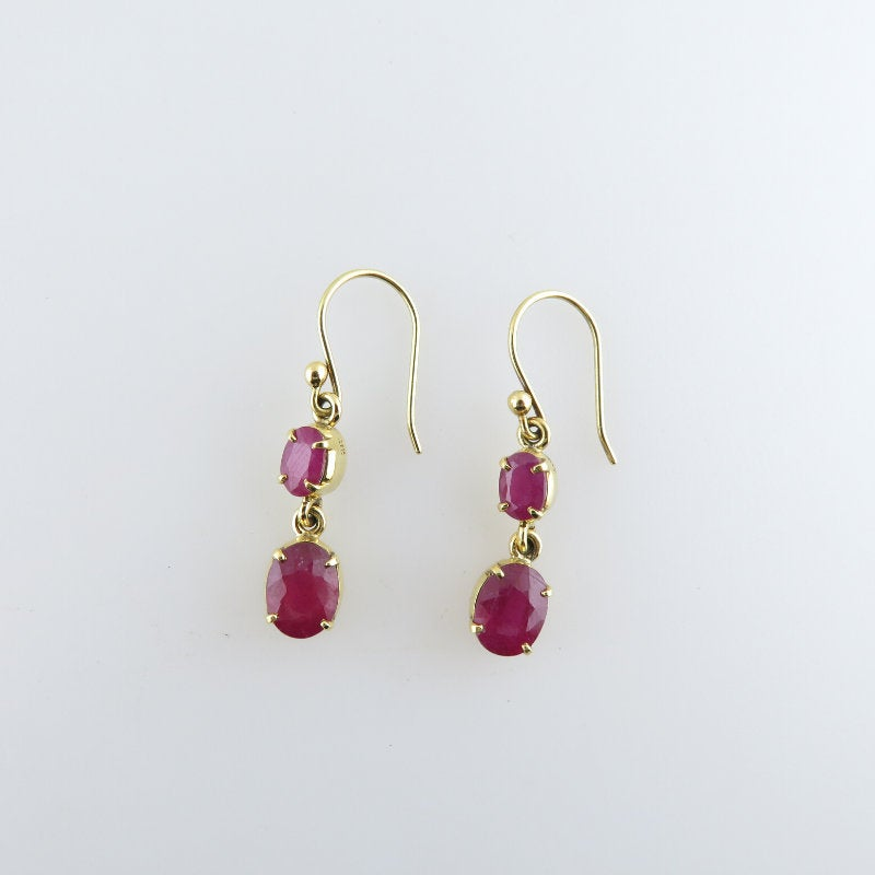 Ruby Earrings with 18K Gold