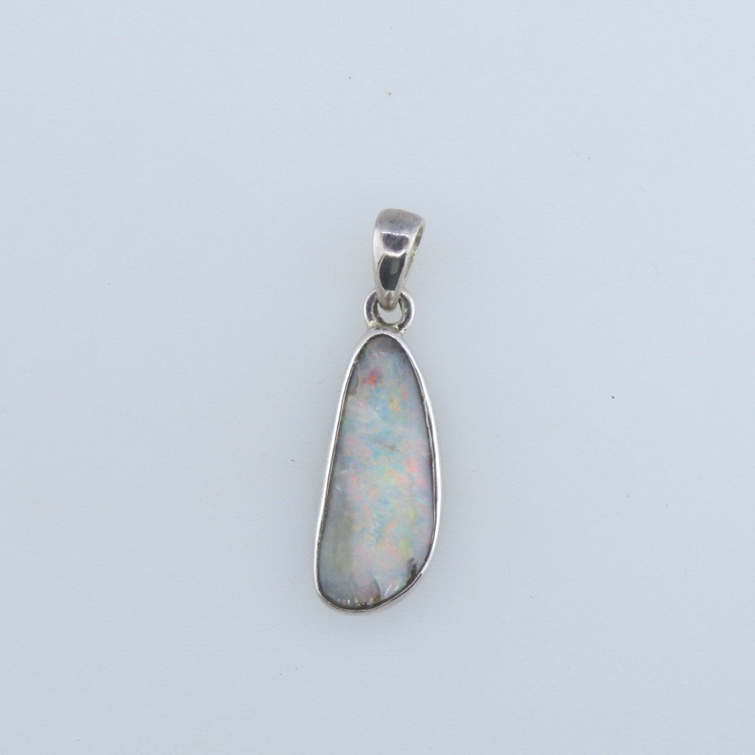 Boulder Opal Pendant with Sterling Silver
