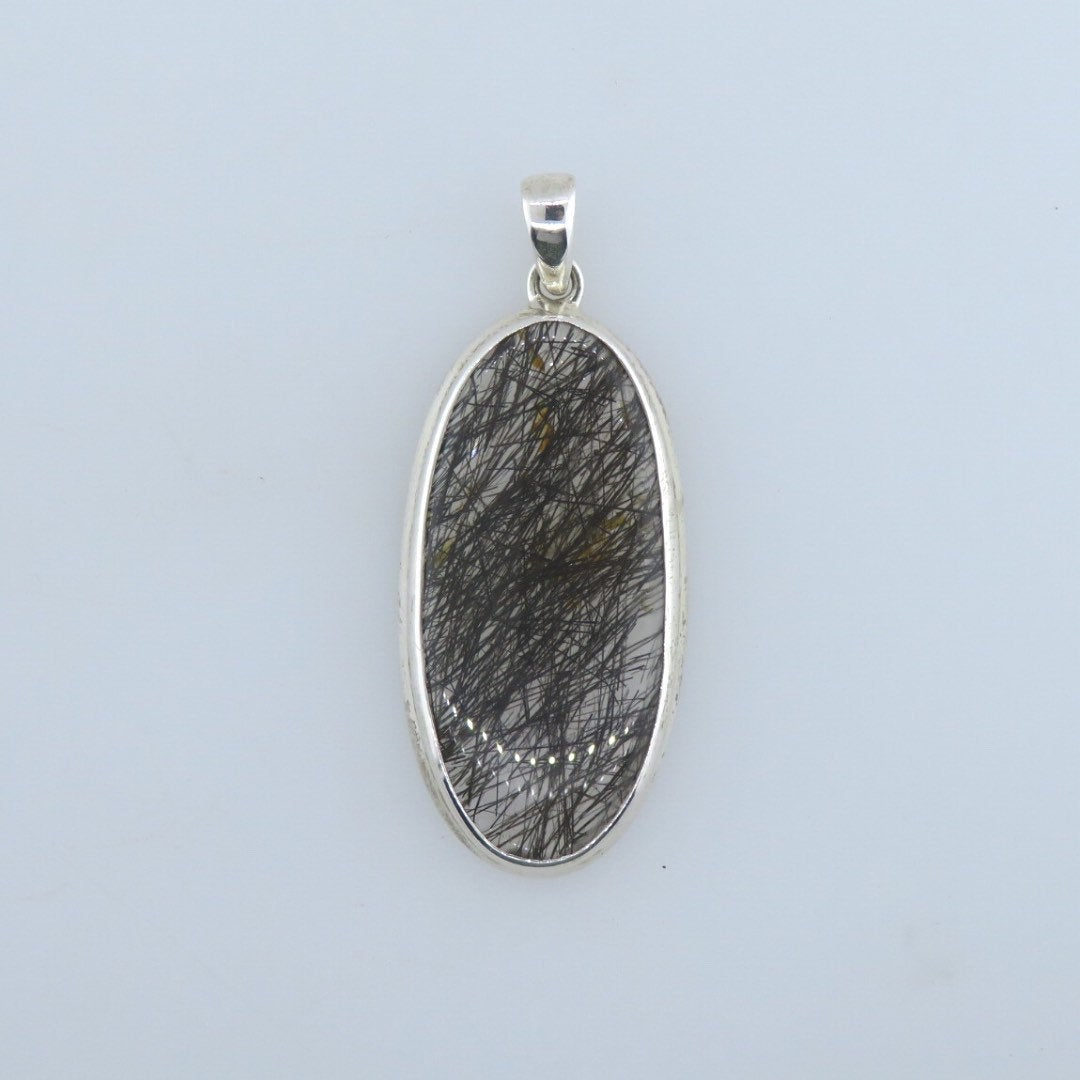 Tourmaline Quartz Pendant with Sterling Silver