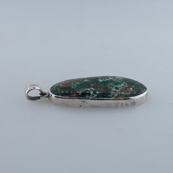 Chrysocolla Pendant with Sterling Silver